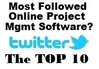 Top 10 Online Project Management Tools by Twitter followers April 2016